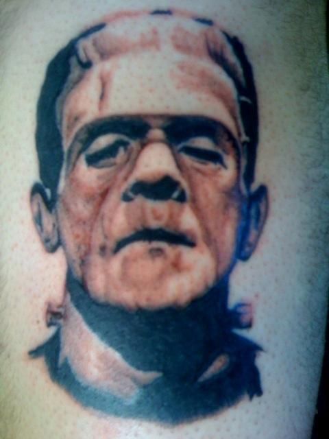 Frankenstein Tattoo by raizincaine