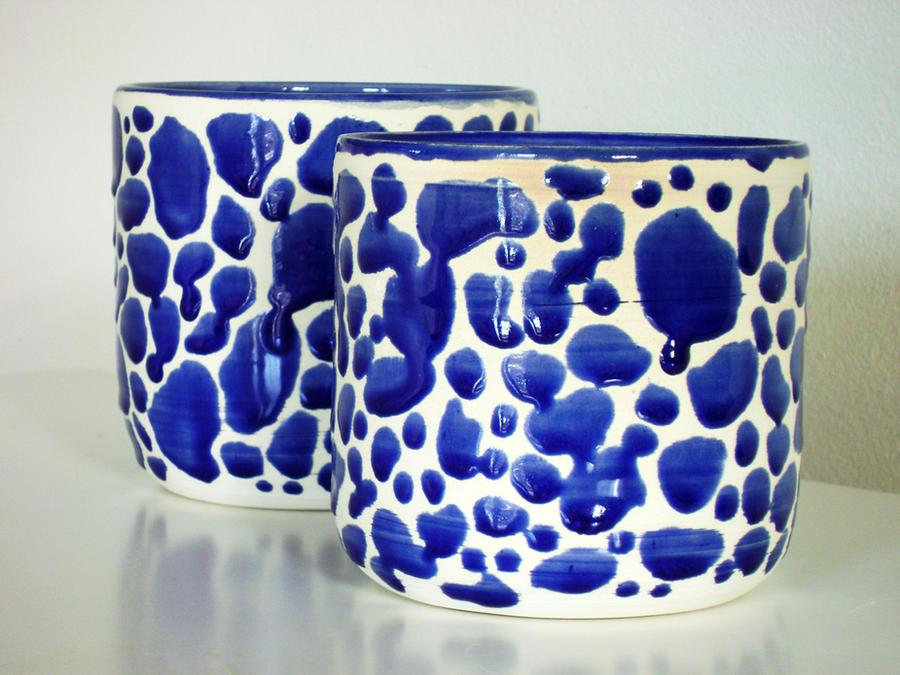 Raindrop vases by lizetpottery