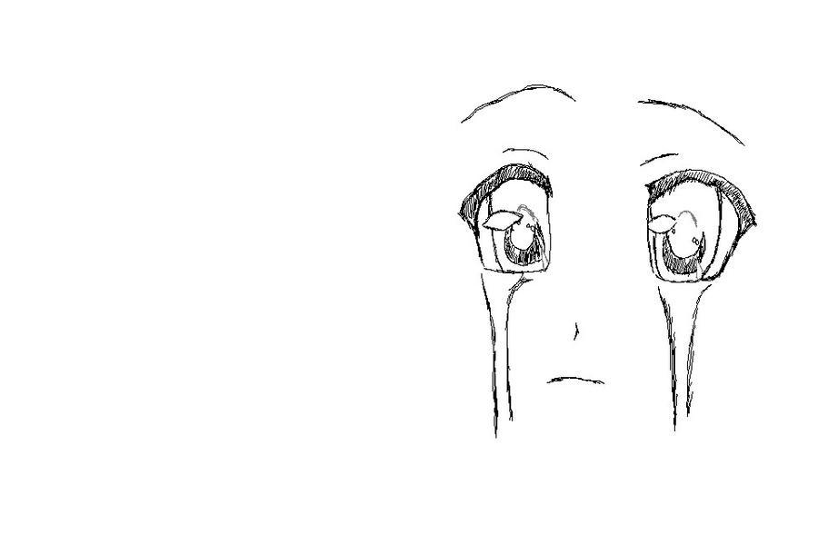 Anime Eyes Crying