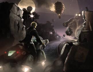 Steampunk alien by Silych