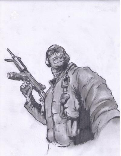 Ghost - Modern Warfare 2 by thesnarlingvicar42 on DeviantArt