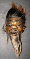 Rare Bearded Shrunken Head 1 by DETHCHEEZ