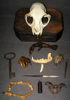 Skull Box VooDoo Spell Kit 1 by DETHCHEEZ