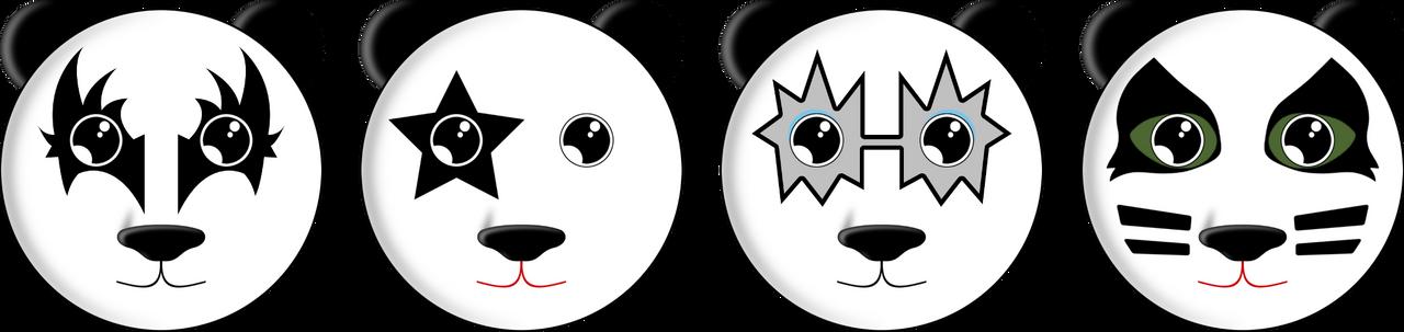 Kiss The Pandas by difu0an