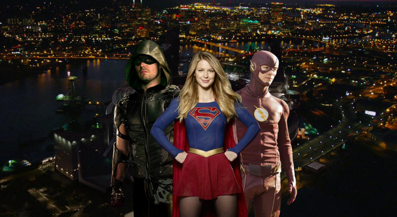 Cw Trinity Arrow Flash And Supergirl By Savagecomics On Deviantart