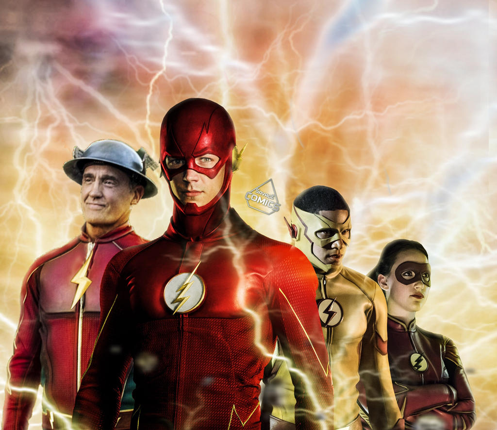 cw flash family by savagecomics on deviantart