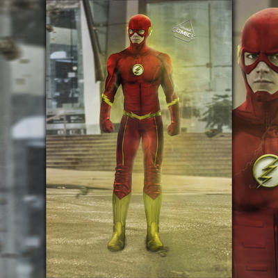 Cw Flash Updated suit  by SavageComics