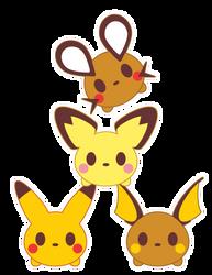Tsum Tsum x Pika Family