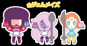 Chibi Crystal Gem Maids by Itachi-Roxas