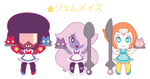 Chibi Crystal Gem Maids