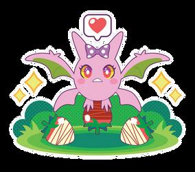 Chibi Shiny Crobat by Itachi-Roxas