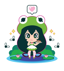 Tsuyu x Kermit Lolita by Itachi-Roxas