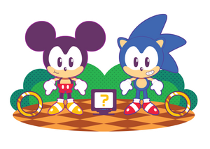 Sonic and Mickey