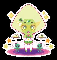 Chibi Crystal Gem Maid!Peridot by Itachi-Roxas
