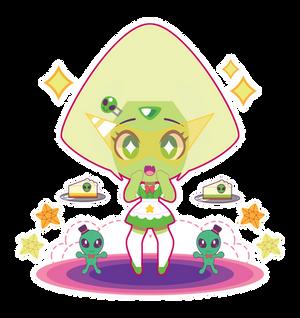 Chibi Crystal Gem Maid!Peridot