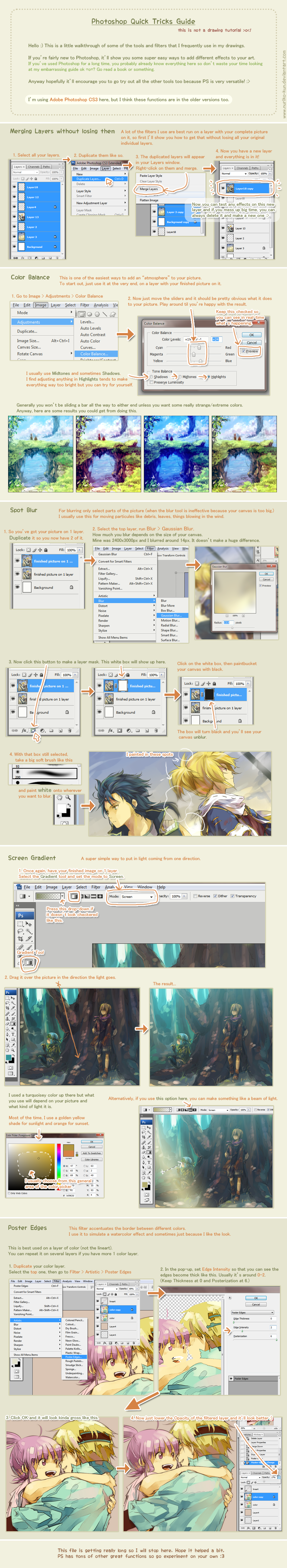 Quick Photoshop Tricks that I use a lot :b by nuriko-kun