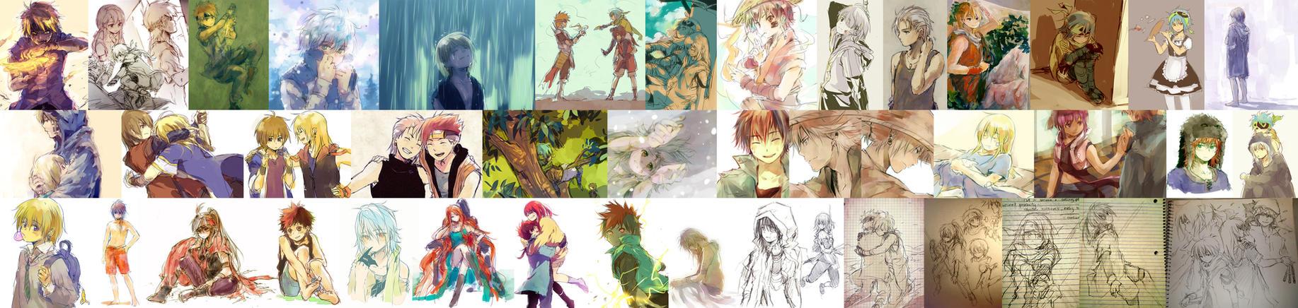 long stream of doodles by nuriko-kun