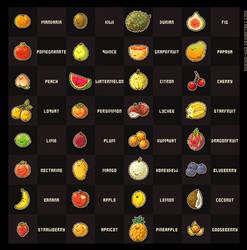 Pixel Fruit Collection by nuriko-kun