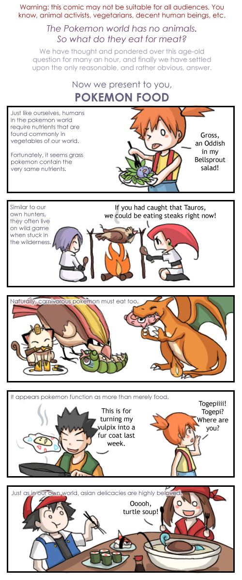 Wait a sec do people eat pokemon then o o for Pokemon cuisine