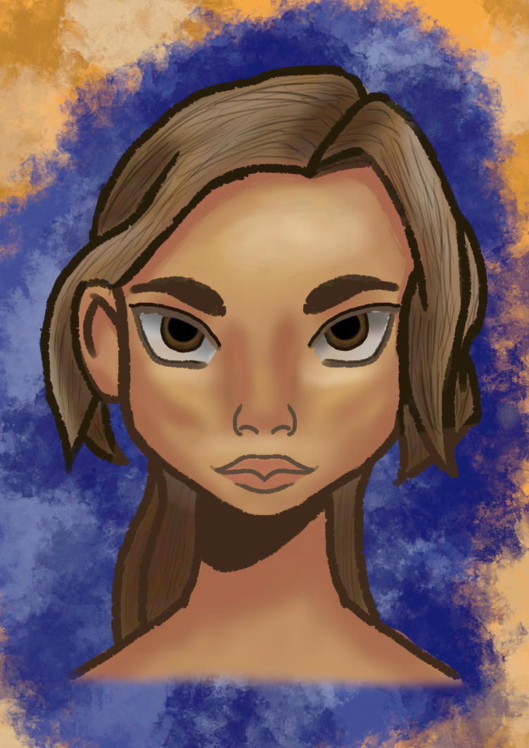 A Female Face by Carptalk369
