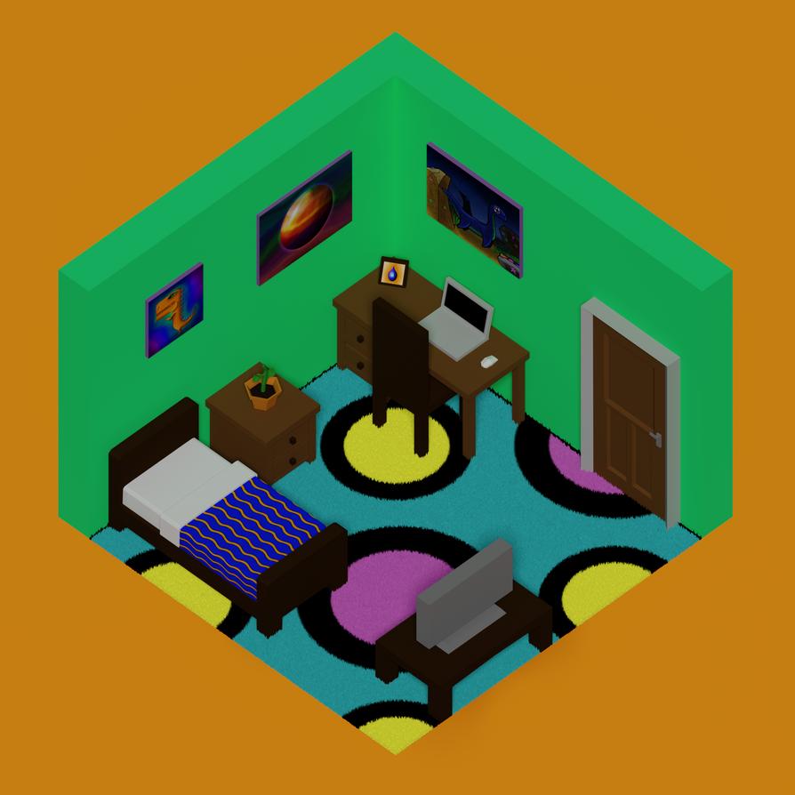 Isometric Bedroom by Carptalk369