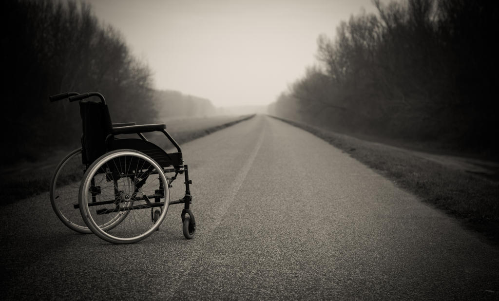 Lonely Wheelchair - The Last Outing 6 by ferobanjo