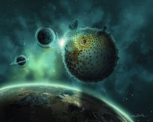 Pufferfish In Space