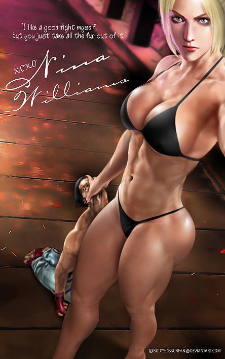 Nina Williams by bodyscissorfan