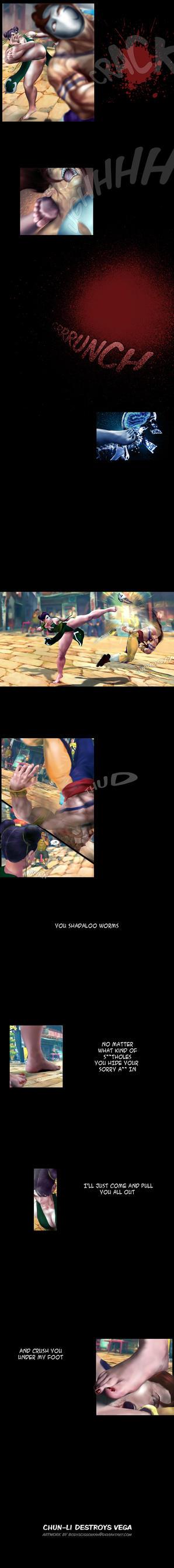 Chun-Li destroys Vega by bodyscissorfan