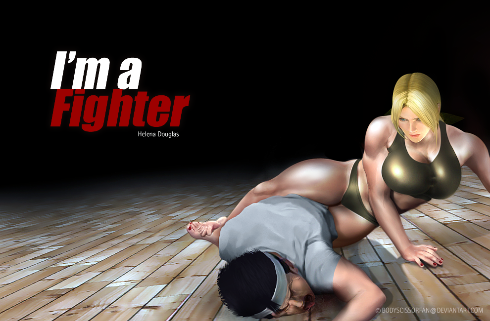 Helena crushes Akira by bodyscissorfan