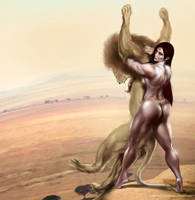 Commission_Zana reclaims her territory by bodyscissorfan
