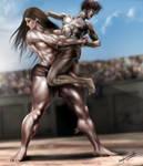 Bearhug_Atalanta wrestling Peleus