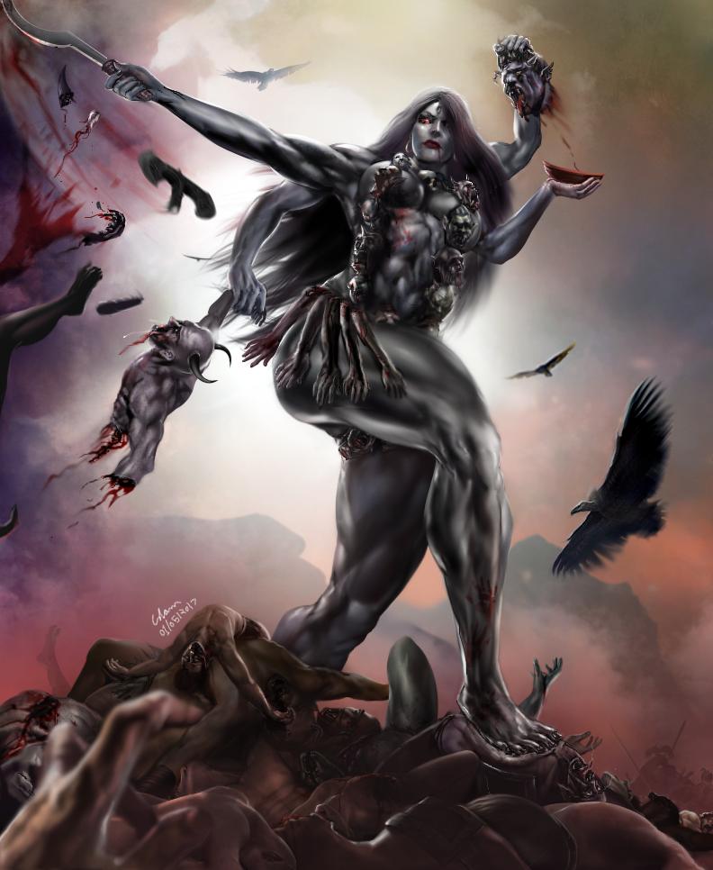 Jai Maa Kali by bodyscissorfan