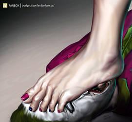 Worship Harley Quinn's Foot by bodyscissorfan