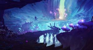Mushroom lake by Orelf