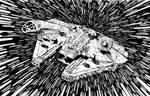 millemium falcon - star wars