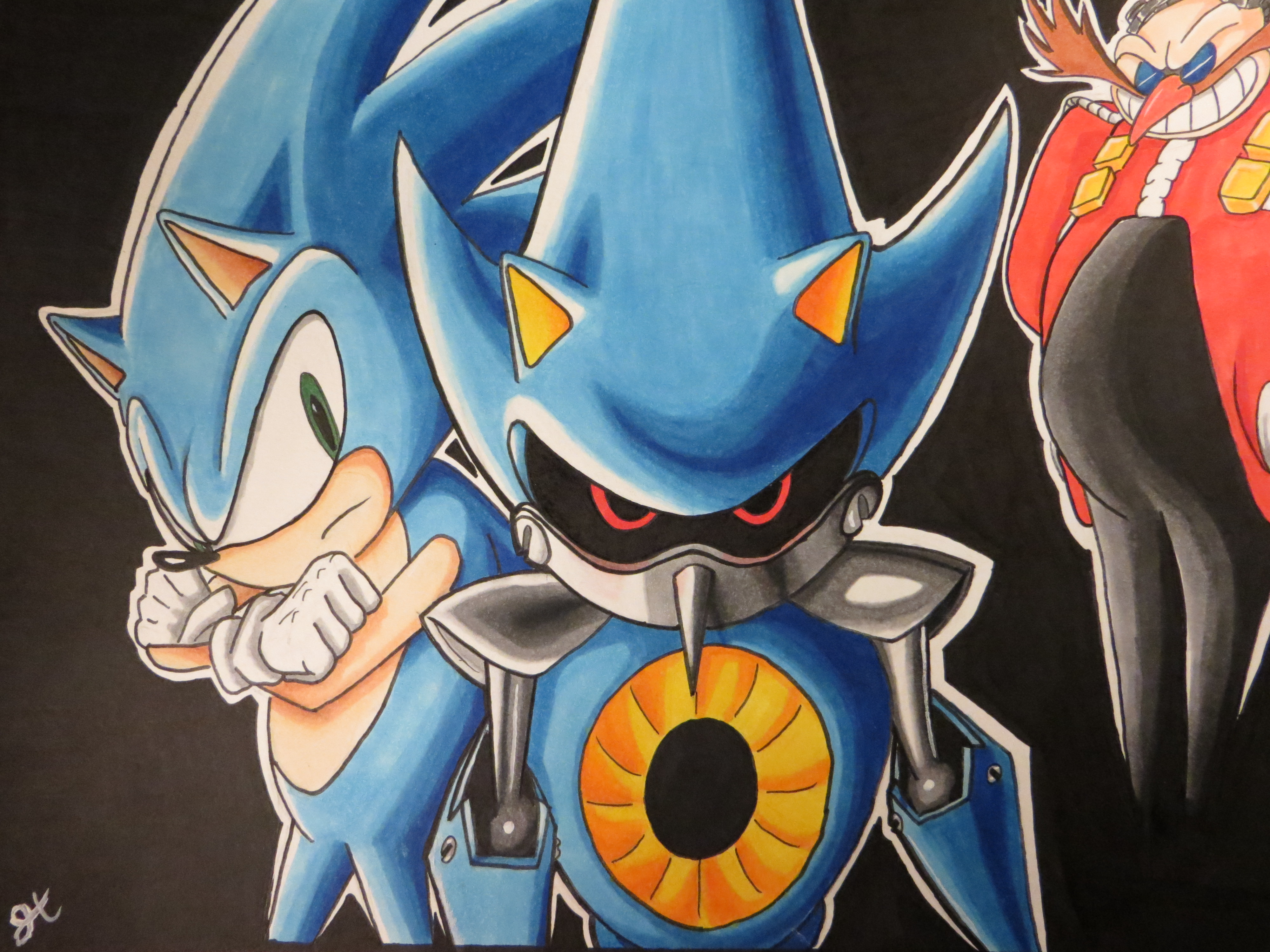 Metal Sonic Sonic The Hedgehog Original Game Art By Gladiatorgaming On Deviantart