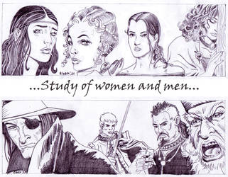 Study of Women and Men by Elezar81