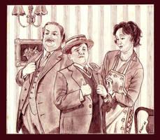Dursley's family portrait by Elezar81