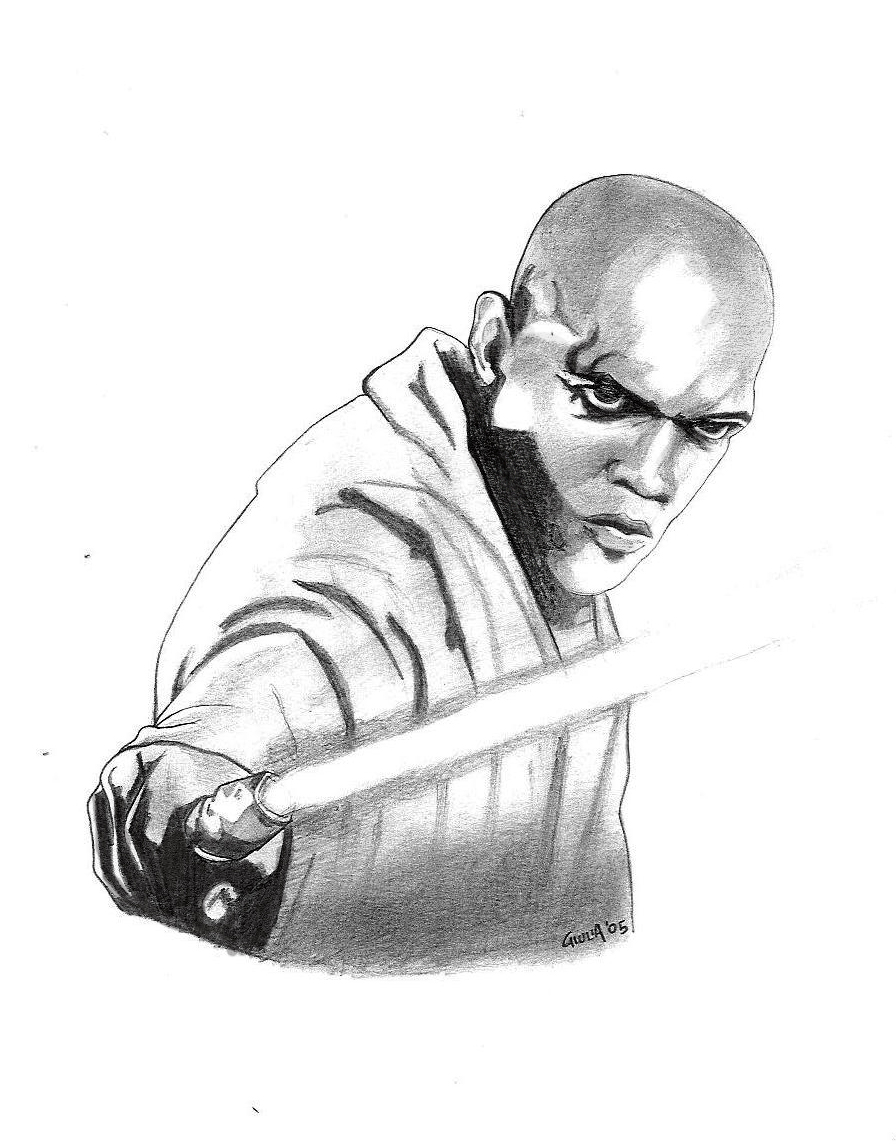 Mace windu by elezar81 on deviantart Anakin Coloring Pages Mace Windu Clone Wars Yoda Han Solo Coloring Pages