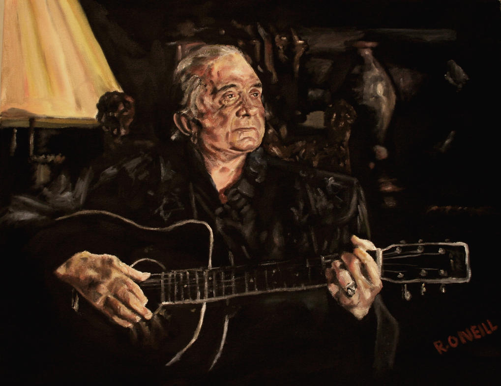 Johnny Cash: The Man in Black by techgnotic on DeviantArt