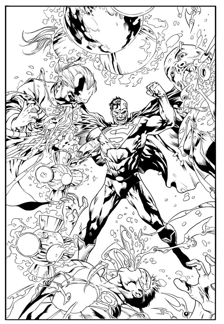 Superman Inking by ChekydotStudio
