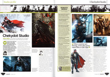 ImagineFX 100th Issue with Chekydot Studio by ChekydotStudio