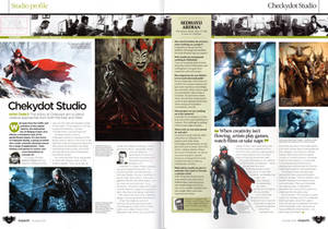 ImagineFX 100th Issue with Chekydot Studio