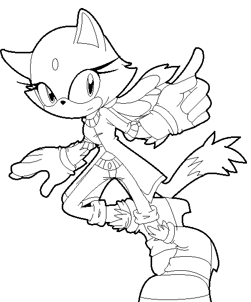 Color me blaze cat by veggiemadness on deviantart for Blaze the cat coloring pages