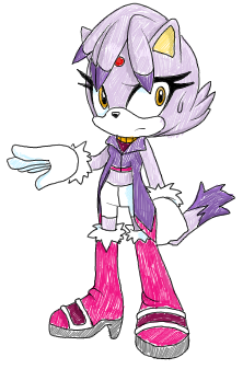 Sally Style .:Blaze the Cat:. by VeggieMadness