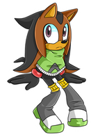 Tikal X Shadow Fan Child .:Agender:. by VeggieMadness