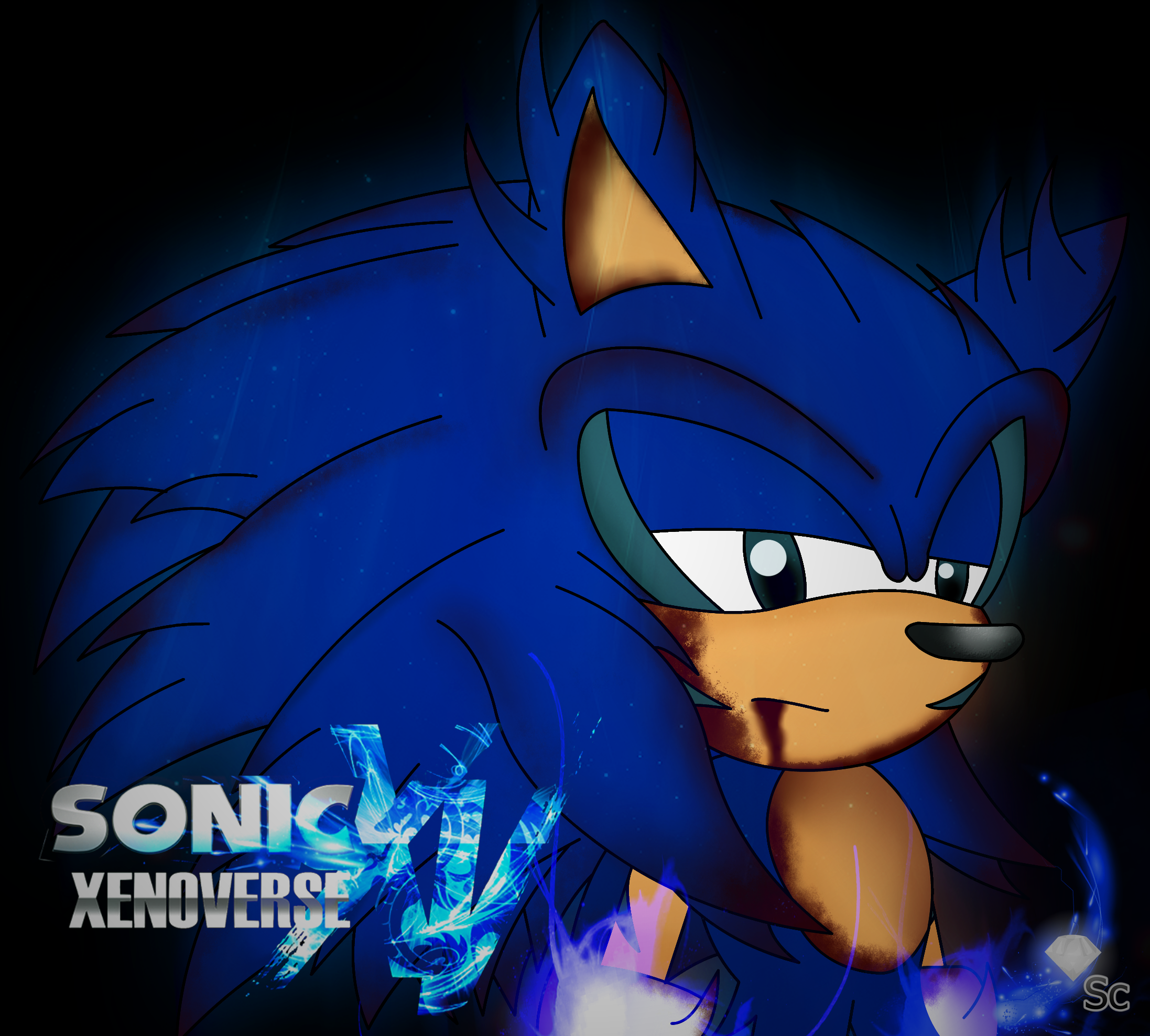 Super Sonic Xenoverse Sonic By Stevenloquenarte On Deviantart