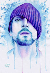 1224 Adrien Brody Wearing a Hat by YourFavoriteRussian
