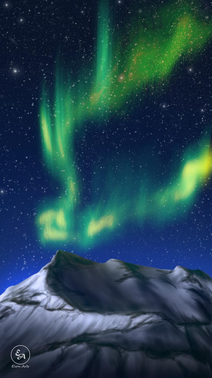 Wallpaper Hd Celular Montain Aurora By Elon13 On Deviantart